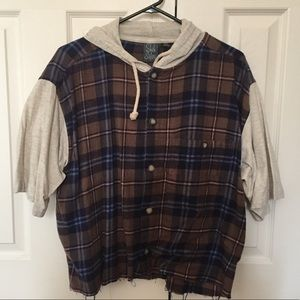 Urban Outfitters Short Sleeve Flannel Shirt